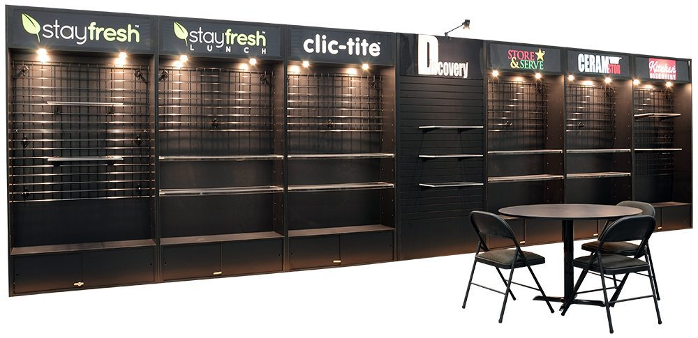 30 Trulite With Shelving And Slatwall Infinity Exhibits
