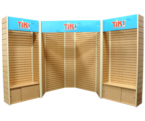 10x10 trade show booth Slatwall