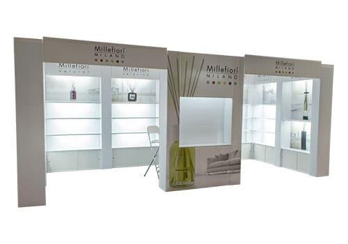 shelving displays & merchandise tradeshow exhibit